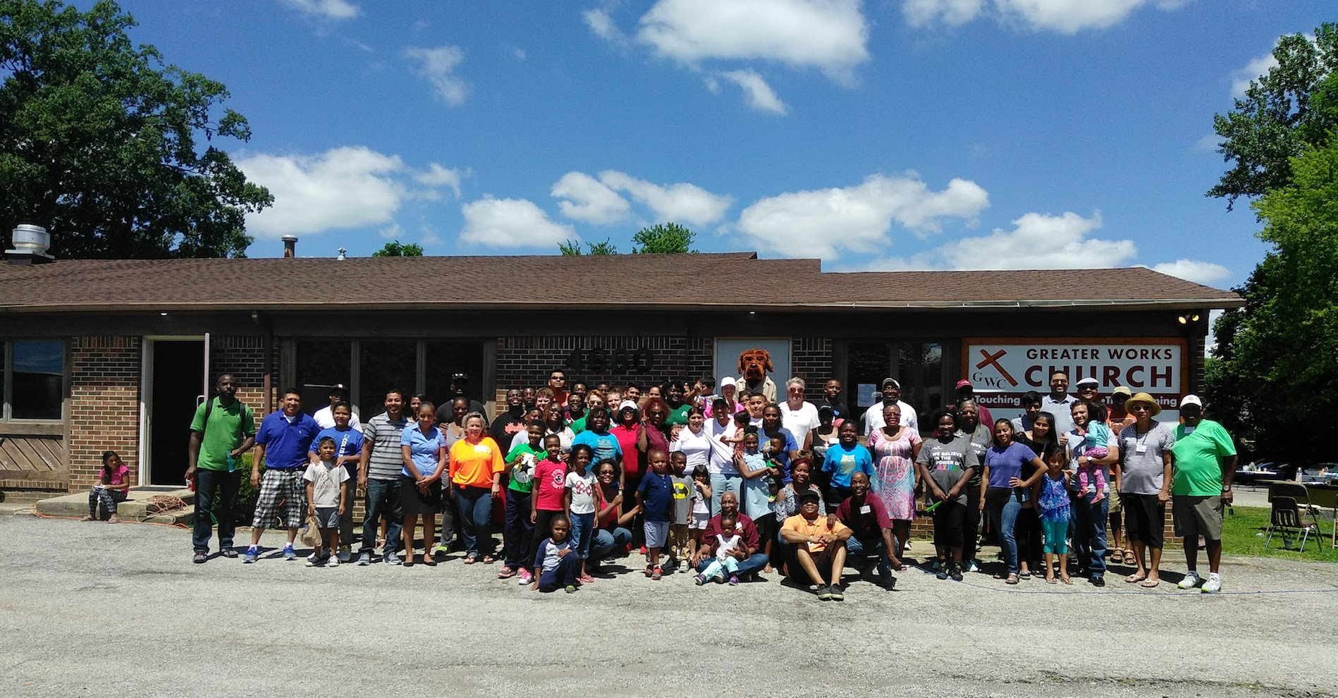 Greater Works Church block party group picture